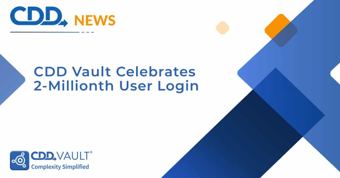 CDD Vault Celebrates 2-Millionth User Login